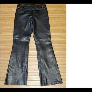 Cache 100% lamb leather pant